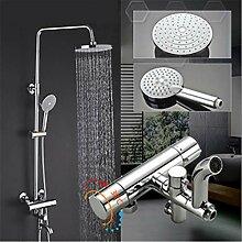 Duschsystem-Set mit Runddusche und Handbrause
