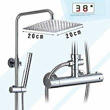 Duschsystem Verchromtes Thermostatbad