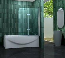 Duschtrennwand TWO 120 x 140 cm (Badewanne)