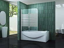 Duschtrennwand TWO-F 120 x 140 (Badewanne)
