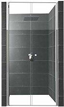 Duschtür aus Nano versiegeltem ESG Glas für
