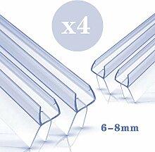 Duschtür Dichtung 4 x 100 cm - Mit verlängerten