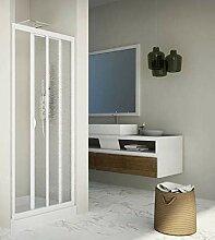 Duschtür mit Schiebetür aus Acryl und PVC,