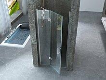 Duschtür mit Schlägel Außen Kristall 8mm