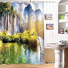 Duschvorhänge- 3D Badezimmer Duschvorhang mit Haken Wasserdichte Duschvorhang mit Haken für Outdoor (150 * 180cm / 165 * 180cm / 180 * 180cm/200*180cm/180*200cm) - Dekorieren Sie die Badtemperatur ( größe : 200*180cm )