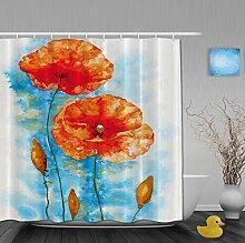 Duschvorhänge mit Pusteblumenmuster für Badezimmer, schimmel- und farbbeständiges Polyester, wasserdicht, Verbleichschutz, helles Pink, Multi18, 72(length) X 72(width)
