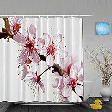 Duschvorhänge mit Pusteblumenmuster für Badezimmer, schimmel- und farbbeständiges Polyester, wasserdicht, Verbleichschutz, helles Pink, Multi8, 72(length) X 72(width)