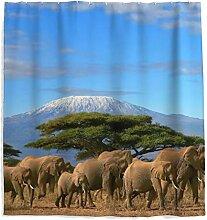 Duschvorhang Afraka Elefant Dadevorhang mit