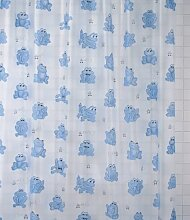 Duschvorhang blaue Frösche 180cm breit x 200cm