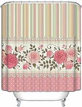 duschvorhang Europäischer Polyester rosa