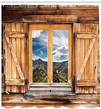 Duschvorhang Fenster mit Blick East Urban Home