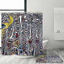 Duschvorhang,Indische Art Polyester