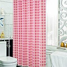 Duschvorhang Mildew dicken wasserdicht Badezimmer Duschvorhang Trennwandkabel (2 Farben / 15 Größen) ( Farbe : Pink , größe : 1.2*2m )