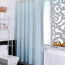 Duschvorhang Mildew dicken wasserdicht Badezimmer Duschvorhang Trennwandkabel (2 Farben / 15 Größen) ( Farbe : Blau , größe : 2*2m )