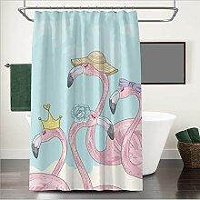 Duschvorhang Nordic Ins Flamingo wasserdicht und