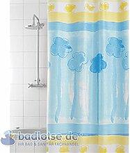 Duschvorhang Pittore Vinyl 180 x 200 cm Wolken weiß/hellblau/blau/gelb waschbar