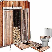 Duschvorhang Set Badezimmerzubehör Teppich