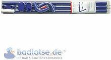 Duschvorhang-Stange 165 x 70 cm Ø 25 mm blau