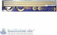 Duschvorhang-Stange 170 x 75 cm Ø 25 mm beige