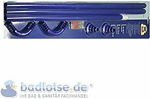 Duschvorhang-Stange 170 x 75 cm Ø 25 mm blau