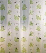 Duschvorhang transparent mit Grünen Fröschen