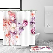 Duschvorhang und Badematte Set Badezubehör