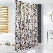 Duschvorhang Verdickte Polyester Badezimmer Wasserdichte Mehltau WC Trennwand Vorhang ( größe : 180*220cm )