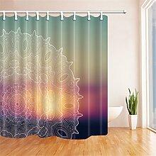 Duschvorhang von Gwell mit Mandalamotiv für die