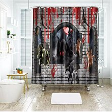 Duschvorhang wasserdicht 3D-Foto-Dusche Vorhang