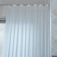 Duschvorhang wasserdicht verdicken die Badezimmer Vorhang transparent Duschvorhang (24 Größen) ( größe : 120*200cm )