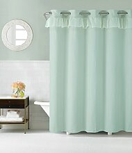 Duschvorhang Wasserfall Dusche Vorhang blau