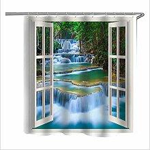 Duschvorhang Window Seascape kreativer Druck