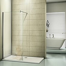 Duschwand 140x200cm Walk in Dusche Duschtrennwand