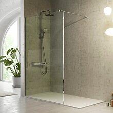 Duschwand FRESH - 80 cm Glas 8mm ohne Sichtschutz