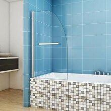 Duschwand für Badewanne Faltwand 80 x 140 cm Echt