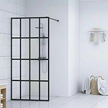 Duschwand für Begehbare Dusche Hartglas 80×195 cm