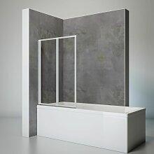 Duschwand Smart inkl. Klebe-Montage, 87 x 121 cm,