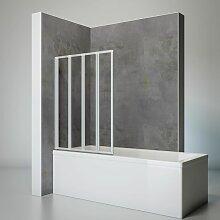 Duschwand Smart inkl. Klebe-Montage, 93 x 121 cm,