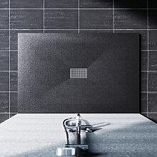 Duschwanne 140x100 Duschtasse Flach SMC mit