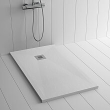 Duschwanne Kunstharz PLES Weiß - 110x90 cm