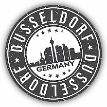 Dusseldorf City Germany Grunge Emblem -