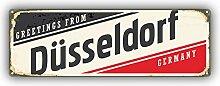Dusseldorf City Germany Grunge Retro Emblem -