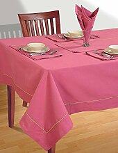 DUSTY ROSE Tischdecke Frühling Dekorationen für Zuhause Größe-137-CmX137 Cm