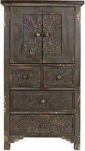Dutch Bone - Schrank Cabinet FUZ, vintage Look aus massivem Kiefernholz - H 118 x B 50 x T 40 cm / SPEDITIONSVERSAND