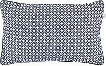 Dutch Decor Anke Kissenbezug, Polyester/Baumwolle, dunkelblau, 45x 45cm