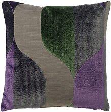 Dutch Decor Kissen Boza 45x45 cm wave violett -