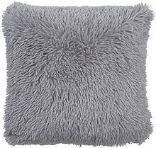 Dutch Decor Kissen Fluffy 45x45 Mitte Grau -