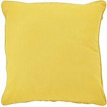 Dutch Decor Kissenhülle Java 70x70 cm gelb -