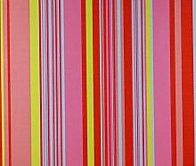 Dutch Wallcoverings 1194–4Funny Stripes Tapete–Rosa/Ro