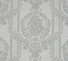 Dutch Wallcoverings 6850–7 Ornament Tapete – Grau